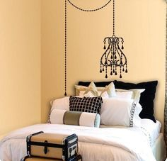 All Products / Accessories & Decor / Wall Treatments / Wall Decals Small Space Living, Living Spaces, Headboard Decal, Wall Drawing, Diy Headboards, Spare Room, Wall Treatments, Girl Room, Wall Decals
