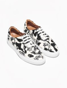 & Other Stories painterly leather sneakers