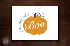 Happy Halloween Digital Greeting Card by AhHaDesign on Etsy