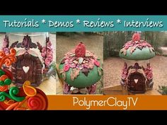Fabulous Polymer Clay Mushroom Fairy House by Polymer Clay TV