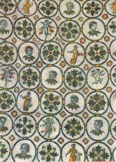 Roma - Mausoleo di Santa Costanza - IV sec. - mosaici simili a grandi stoffe preziose