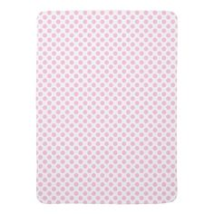 Pink Polka Dots with Customizable Background Stroller Blanket