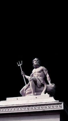 Poseidon – Pin's Page Poseidon, Greek Statues, Ancient Greek Sculpture, Buddha Statues, Greek And Roman Mythology, Illustration Art, Illustrations, Greek Art, Classical Art