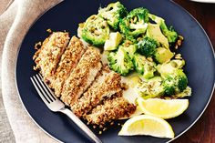 Paleo almond, pecan and coconut crumbed chicken recipe - Baked chicken with a nutty, crunchy coating served with a warm vege salad ticks all the boxes for a healthy, Paleo-friendly meal! Easy Healthy Breakfast, Breakfast For Kids, Baked Chicken, Chicken Recipes, Chicken Broccoli, Healthy Snacks For Diabetics, Healthy Meals, Paleo Meals, Healthy Chicken