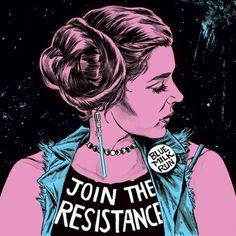 Join the Resistance, by Blue Milk Run Girl Power Tattoo, Princesa Leia, Star Wars Outfits, Star Wars Costumes, Girl Silhouette, Carrie Fisher, Love Stars, Star Wars Art, Disney Inspired