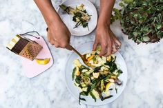 We visit our favourite London cook and food writer Anna Barnett. She was kind enough to cook up some of her new dishes that are really easy to make and super de