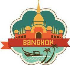 "Bangkok Thailand World City Travel Label Badge Car Bumper Sticker Decal 5"" x 5"" novlandia http://www.amazon.com/dp/B00KSH56VI/ref=cm_sw_r_pi_dp_6hyLub1RTA21S"