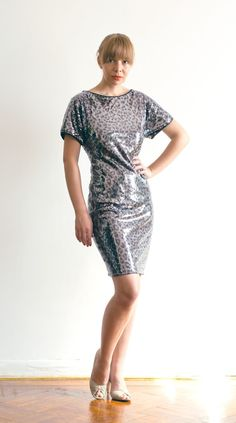 Animal Print Sequined Dress  Ready to Ship Size ML by LanaStepul, $150.00