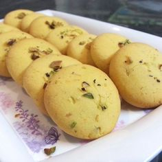 This is my first post and I am too excited. I love baking more than cooking so my first post had to be something related to baking :mrgreen: Presenting kesar pista biscuits. These are easy to make … Eggless Desserts, Eggless Recipes, Eggless Baking, Snack Recipes, Dessert Recipes, Nutella Recipes, Brunch Recipes, Indian Desserts, Indian Food Recipes