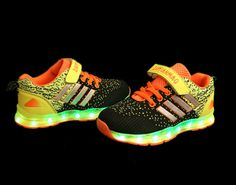 MINMAI big kids&little kids led shoes 7 colors light up shoes led usb sneakers  led dancing