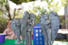 Weeping Angel Barbies How to turn Barbies into Doctor Who Weeping Angels= TOTALLY WANT TO TRY(and fail, but still try)!!!