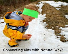 Why is it so important for kids to connect to nature?  In this post we talk about the why, what, and how simple it is to get kids outside and exploring nature - and learning A LOT too!  Plus links to lovely spring nature walks! www.HowWeeLearn.com