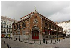 Op de plaats van de overdekte hallen werd de oorspronkelijke  Sint-Gorikskerk  in 16de eeuw gebouwd te midden van de eilandjes die door de Zenne-armen werden gevormd.  Hier bevinden we zich echter in het historische centrum van de stad.  In 1881 startte architect Dubois de bouw van de Sint-Gorikshallen, die vandaag dienen voor talrijke tentoonstellingen.