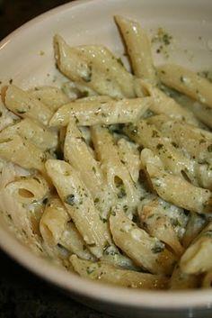 Penne Parmesan Pesto Pasta