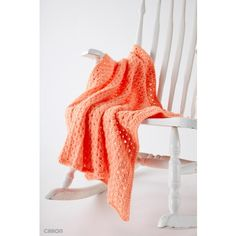This peach baby blanket is Easy Peasy to stitch up! Crocheted in Caron One Pound Yarn.  |Yarnspirations |Free Beginner Crochet Blanket Pattern