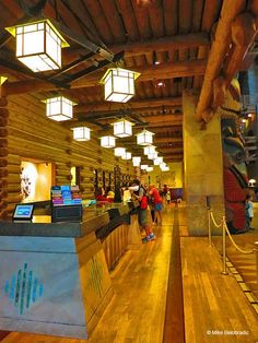 Check In desk at Wilderness Lodge. http://www.1923mainstreet.com