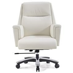 Shop Bloomberg Leather Adjustable Office Chair with Aluminum Base and other modern and contemporary home and office furniture. Browse our selection of Office and Task Chairs from Zuri Furniture. Home Office Chairs, Home Office Furniture, Cheap Furniture, Rustic Furniture, Furniture Design, Small Furniture, Furniture Stores, Furniture Logo, Luxury Furniture