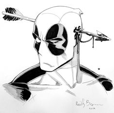 A Deadpool commission from Baltimore Comic Con. I'll be at NYCC in a few weeks-- look for me at table Deadpool Marvel Art, Marvel Dc Comics, Marvel Heroes, Deadpool Art, Deadpool And Spiderman, Comic Books Art, Comic Art, Arte Hip Hop, Marvel Drawings