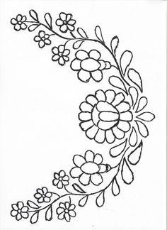 Flower Embroidery Designs, Embroidery Needles, Hand Embroidery Patterns, Flower Designs, Simple Flower Design, Flower Pattern Design, Hungarian Embroidery, Design Basics, Needlework