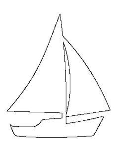 sailboat pattern use the printable outline for crafts creating