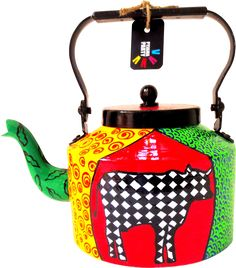 """<p>Pyjama Party's range of colourful hand-painted kettles add a dash of quirky, funky, kitsch to your<span style=""""font-size: 12px;"""">home. Intricate detailing and vibrant colours makes for a perfect kettle to serve tea in or as a decor.</span></p>"""