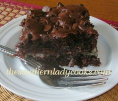 Chocolate Earthquake Cake-Chocolate with cream cheese in the filling. If you love chocolate, you will love this one.