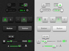 Dribbble - Toggles, Buttons and Sliders UI Redux by Michael Donovan
