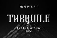 Tarquile by Typia Nesia on @creativemarket #display #font #handpicked Vintage Typography, Typography Design, Lettering, Handwritten Fonts, New Fonts, Disney Font Free, Disney Fonts, Game Font, Frozen Font