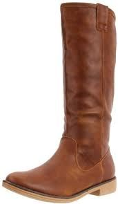 Wanted's Neigh Boot.  Fashion Tip:  Pair this rich brown boot with black riding pants to make a sleek and classy statement!