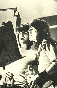 Keith Richards and Mick Jagger at Nellcote