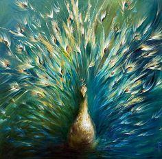 Beautiful peacock painting