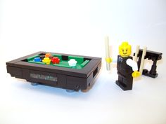 LEGO: Pool Table w/ Cues & Balls - Custom Furniture [set,town] {PreBuilt} in Toys & Hobbies   eBay