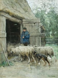 1838 – Anton Mauve, Dutch painter (d. 1888) | Anthony (Anton) Mauve 1838 – 1888 - Anthony (Anton) Mauve, 1880 ...