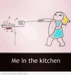 I had to laugh pretty hard at this. This is me almost every time I try to fry anything!