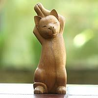 Kitty Cat Stretch from @NOVICA, They help #artisans succeed worldwide.