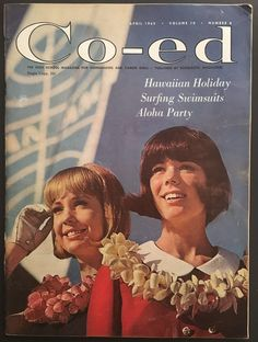 "1965 ""CO-ED MAGAZINE"" APRIL - TEEN FASHIONS HAIR STYLES BEAUTY FICTION FOOD 