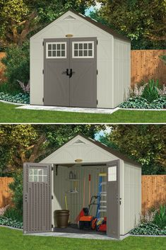 Home & Garden Palram Plastic Green Garden Shed 8x6 Gabled Storage Unit Uv Treated 8ft 6ft Fashionable And Attractive Packages Garden Structures & Shade