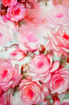 Shabby Chic Pink – Lovely Clusters | Society6 ARTIST: Jacqueline Maldonado