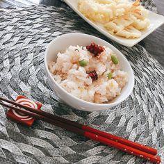 半夏生は、たこめしで。枝豆を入れると彩りも良くなってお箸が進みます。