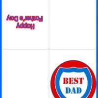 This Best Dad Shield is a free image for you to print out. Check out our Free Printable Fathers Day Cards Happy Fathers Day Cards, Best Dad, Dads, Printables, Print Templates, Fathers, Father