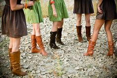 Fall Wedding Boots & Colors <3