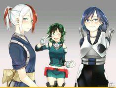 My Hero Academia // BNHA // Gender Bend Shoto Todoroki // Gender Bend Izuku Midoriya // Deku // Gender Bend Tenya Lida