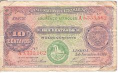 5de Novembro de 1914 Mozambique Lourenco Marques 10 centavos banknote