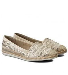 Espadrile dama bej cu auriu si talpa de iuta Loafers, Shoes, Fashion, Travel Shoes, Moda, Zapatos, Moccasins, Shoes Outlet, Fashion Styles