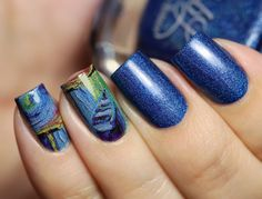 Colors by llarowe Rain from the Fall 2015 collection with water decals from Born Pretty Store.