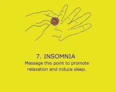 Acupressure for insomnia