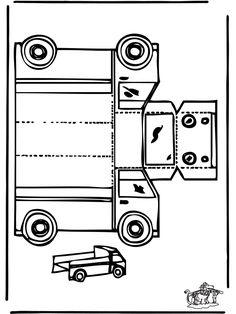 Bouwplaat vrachtwagen