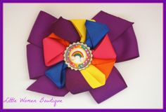 Rainbow bow. $6 plus shipping. You can just message me or comment on the photo on my fb page www.facebook.com/littlewomenbowtique