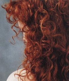 curly red hair.