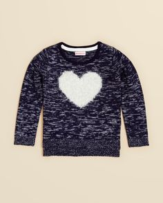 Design History Girls' Heart Sweater - Sizes 2-6X